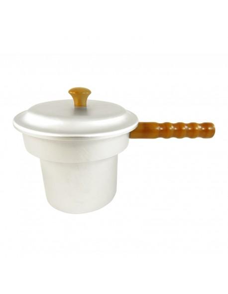 Aluminium Wax Pot  With Wooden Handle WX-P1