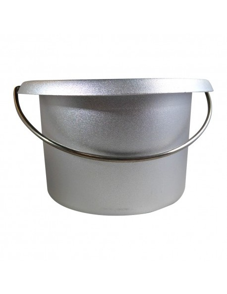 EMPTY METAL POT FOR WAX HOLDS 16 OZ