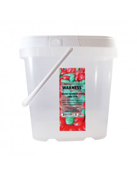 Clear Plastic Empty Container for Refill Wax Beads- 1 Gallon/ 8.3 lbs.